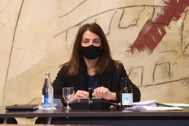 Arxiu - La consellera Meritxell Budó en una reunió del Consell Executiu.