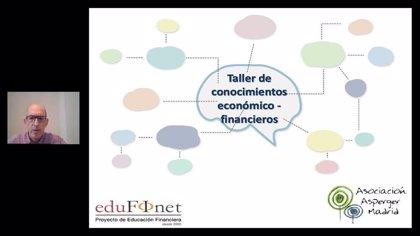 Proyecto Edufinet de Unicaja acerca por primera vez la educación financiera a la Asociación Asperger de Madrid
