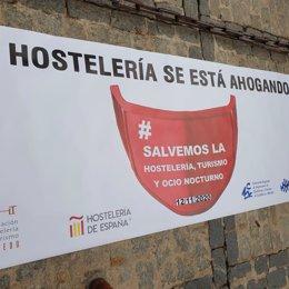 Archivo - Manifestación de hosteleros en Toledo.