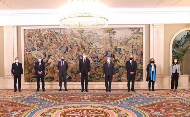 El rey Felipe VI se reúne con el consejo de administración de BME