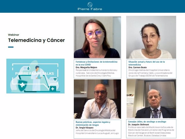 Seminario web para profesionales sanitarios sobre 'Telemedicina y cáncer'