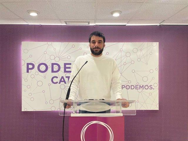 Arxiu - El portaveu de Podem i diputat dels comuns al Parlament, Lucas Ferro.
