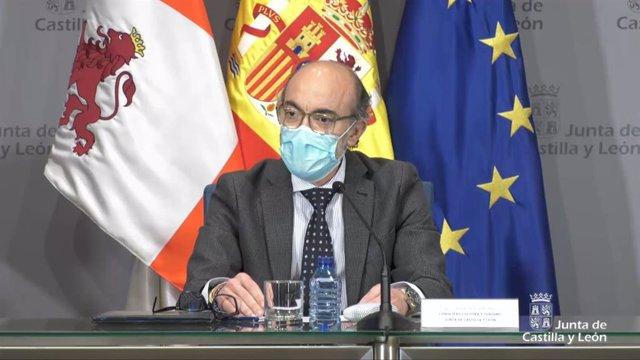 Captura de pantalla de la rueda de prensa de Javier Ortega.