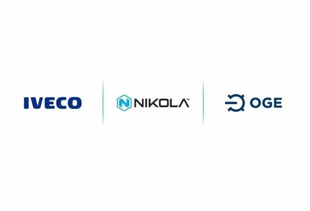 Logos de Iveco, Nikola y OGE.
