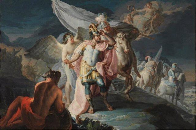 Archivo - Aníbal vencedor que por primera vez mira a Italia desde los Alpes. Francisco de Goya. 1771. Museo Nacional del Prado