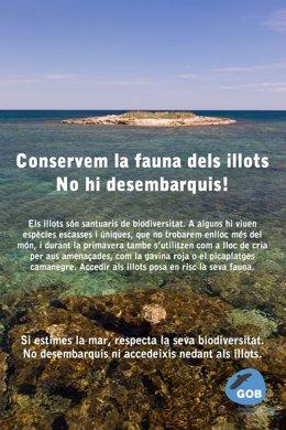 GOB Mallorca pide regular el acceso a los islotes de Baleares.