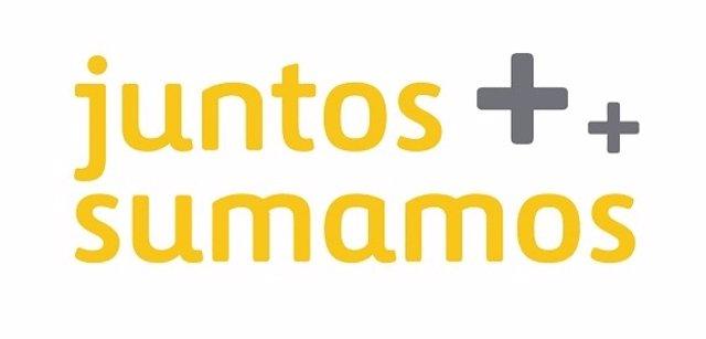 Logo del Proyecto de responsabilidad social corporativa de Ferrovial 'Juntos Sumamos'