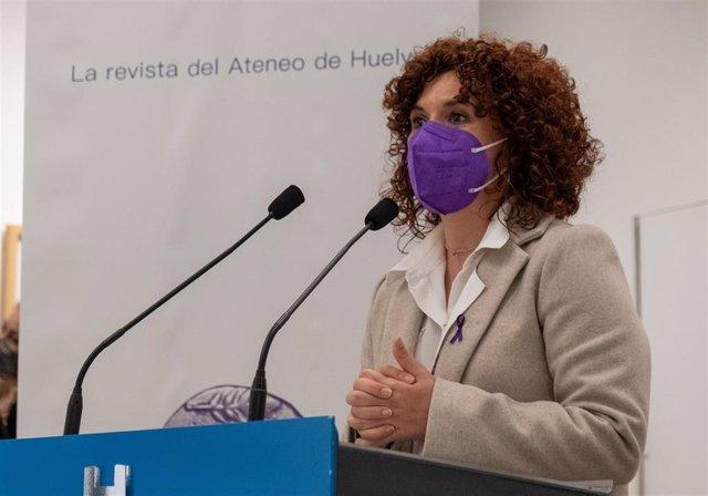 Archivo - La presidenta de la Diputación Provincial de Huelva, María Eugenia Limón.