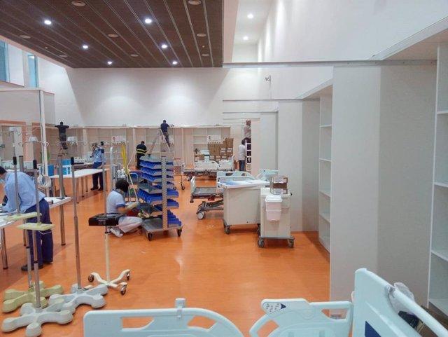 Archivo - Camas UCI habilitadas en el Hospital Universitario Central de Asturias (HUCA)