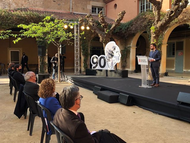 El vicepresident del Govern, Pere Aragonès, a l'acte de commemoració del 90 aniversari de la proclamació de la Segona República.