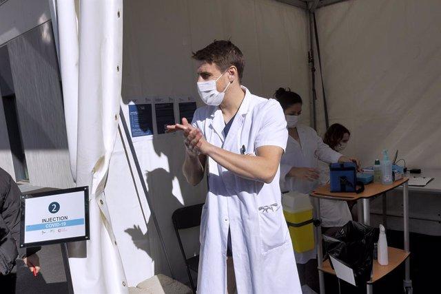 Centro de vacunación en el sur de Francia.
