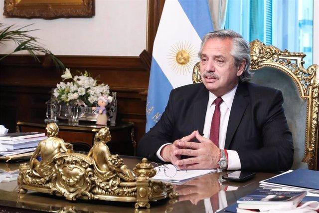 Archivo - El presidente de Argentina, Alberto Fernández