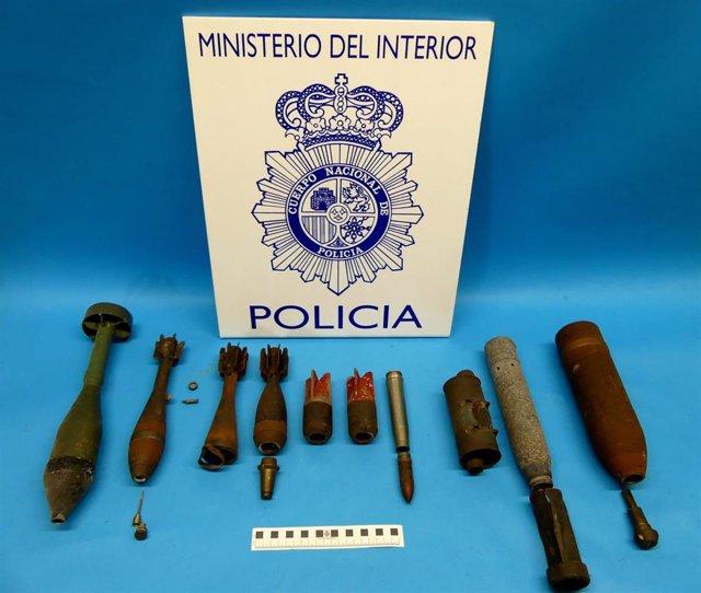 Artefactos explosivos intervenudos en un inmueble en Santander