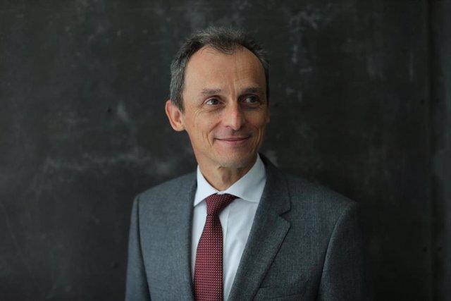 El ministro de Ciencia e Innovación, Pedro Duque, durante una entrevista para Europa Press
