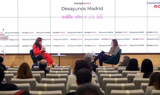 La candidata de Más Madrid a la Presidencia de la Comunidad, Mónica García, responde a las preguntas de Europa Press Madrid