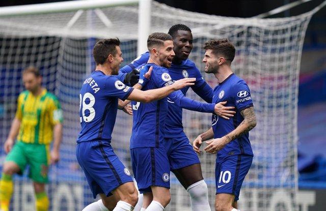 El Chelsea celebrando un gol