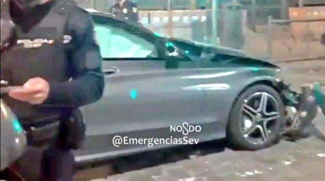 Vehículo del conductor detenido