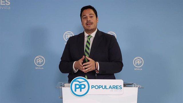 El vicesecretario de Organización del PP de Sevilla y concejal en el Ayuntamiento hispalense, José Luis García