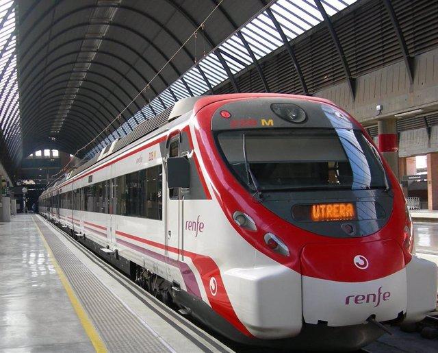 Tren Civia en la estación de Santa Justa
