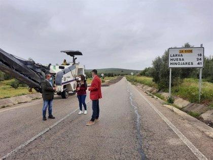 MásJaén.- Comienzan las obras en la carretera que da acceso a Larva y a la zona más sudoriental de la provincia