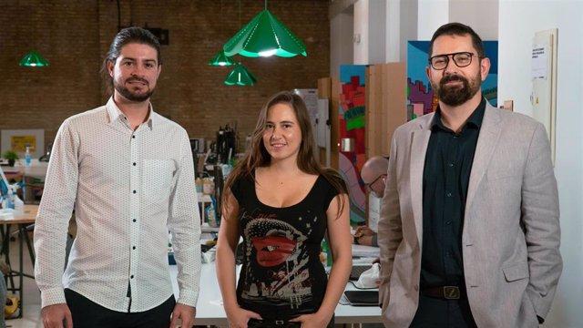 Archivo - El equipo del proyecto de creación musical y audiovisual colaborativa Soundcool