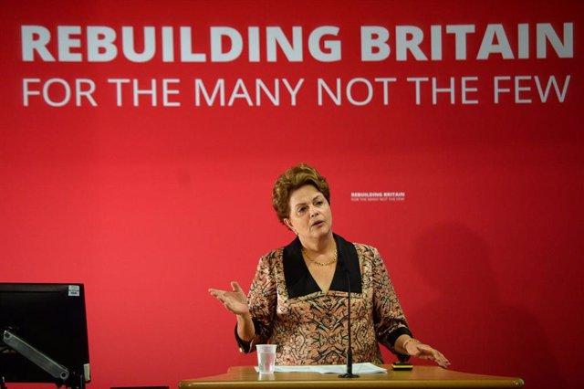 Archivo - La expresidenta de Brasil, Dilma Rouseff