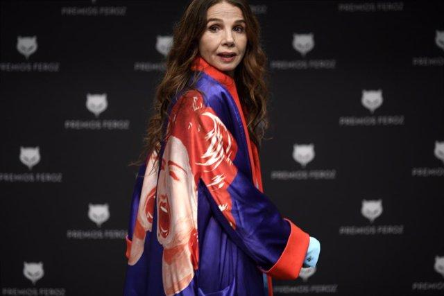 Archivo -  Victoria Abril recibió el Premio Feroz de Honor 2021 el pasado mes de enero, en reconocimiento a su trayectoria profesional, con cerca de un centenar de películas y una veintena de series de televisión.