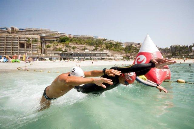 Archivo - Gran Canaria acogerá la primera travesía 'Anfi Challenge Open Water' con un máximo de 200 nadadores