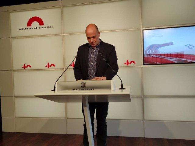 Arxiu - El portaveu adjunt del PSC-Units al Parlament, Raúl Moreno.