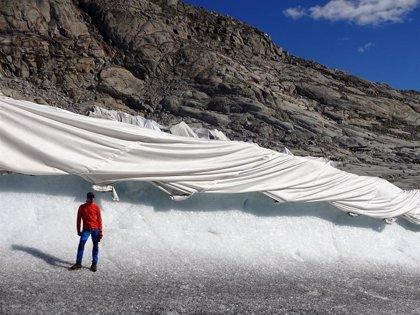 Geotextiles: eficaces para proteger glaciares pero a coste prohibitivo