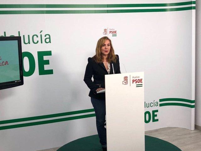 Archivo - Belén Castillo, portavoz del PSOE en el Ayto de Palos de la Frontera.