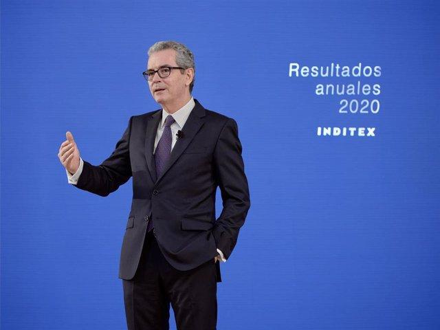 Archivo - Presidente de Inditex, Pablo Isla