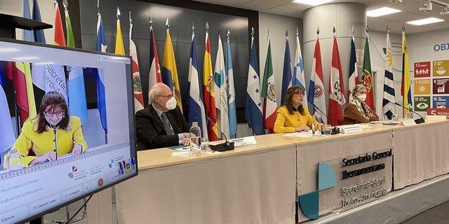 Reunión previa a la XXVII Cumbre Iberoamericana que se celebrará en Andorra el próximo 21 de abril