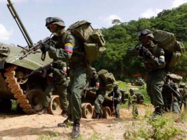 Militares de la Fuerza Armada Nacional Bolivariana, el Ejército de Venezuela