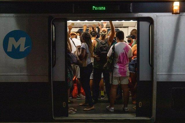 El transporte público en Río de Janeiro.