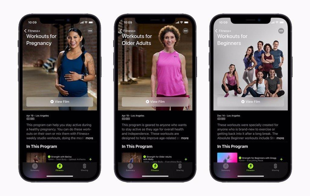 Apple Fitness+ añade nuevos programas de ejercicio para embarazadas y ancianos