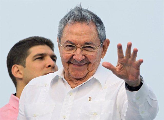 Archivo - El expresidente de Cuba Raúl Casrto.