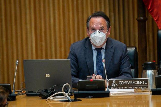 Miguel Ruiz, presidente de ATUC, durante su comparecencia en el Congreso