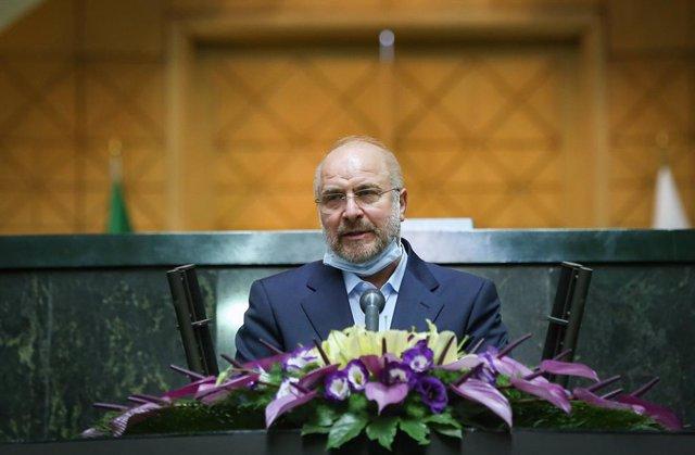 Archivo - El presidente del Parlamento de Irán, Mohamad Baqer Qalibaf