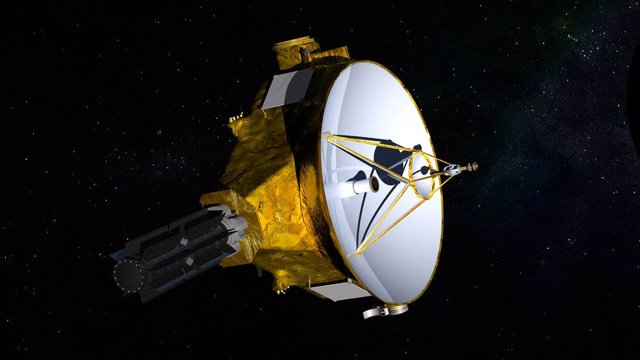 Impresión artística de la nave espacial New Horizons de la NASA, camino a un encuentro en enero de 2019 con el objeto 2014 MU69 del cinturón de Kuiper.