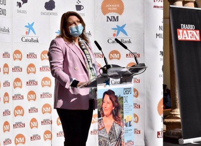 La consejera de Agricultura, Carmen Crespo, durante su intervención