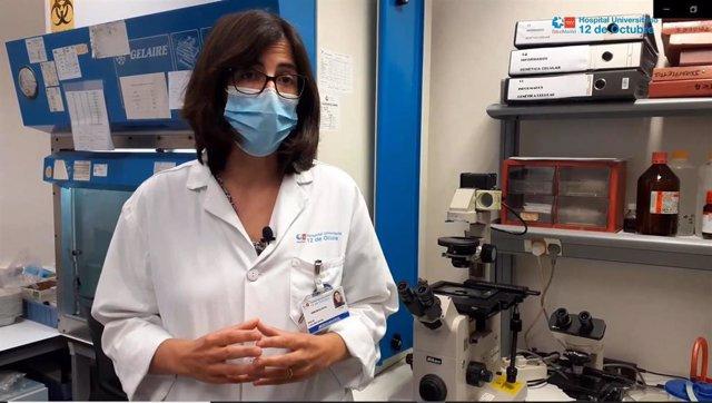 La doctora Rocío Laguna, del Servicio de Inmunología del Hospital Universitario 12 de Octubre.