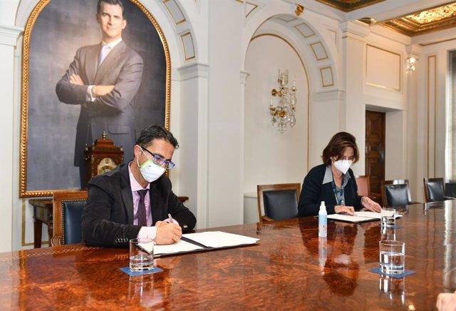 Firma convenio FEDER y Fundación Telefónica