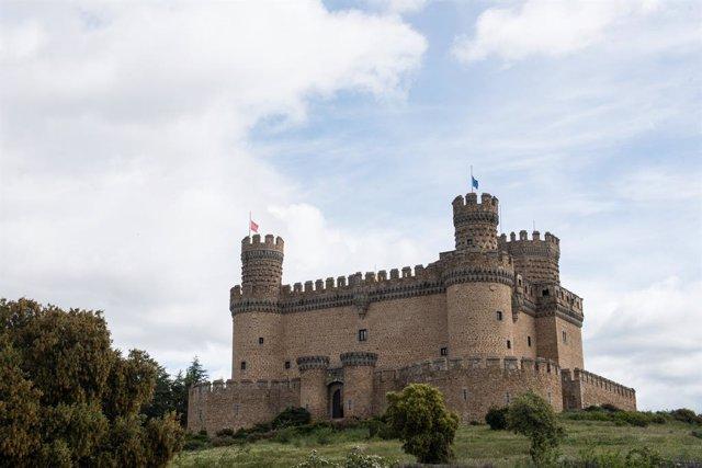 Archivo - Castillo de Manzanares el Real durante a Pandemia Covid-19  en Abril 30, 2020 en Manzanares el Real, Manzanares el Real, Madrid, España