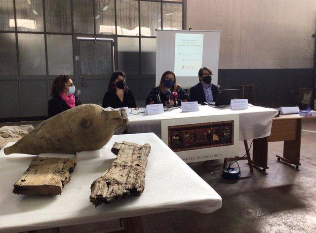 Presentación del estudio preliminar de la carga del pecio tardorromano de Ses Fontanelles.