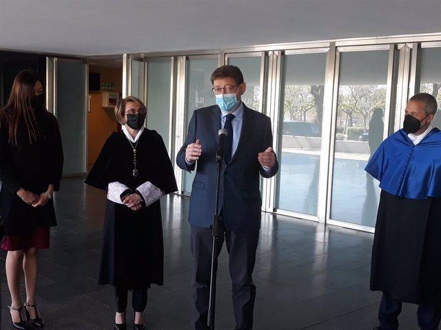 Ximo Puig en la seua visita a la UJI