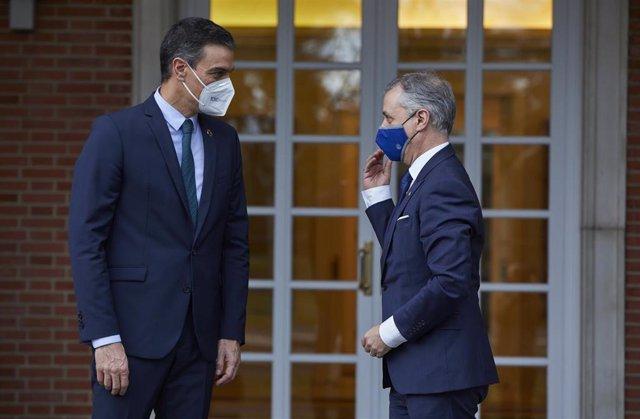 Sánchez y Urkullu se reúnen en Moncloa