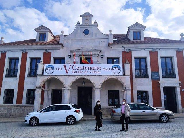 Nuria Duque, de visita en Villalar.