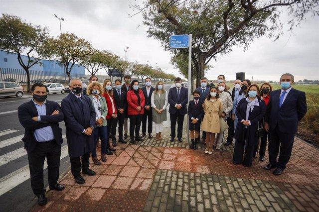 Homenajean a Virginia Nieto Moya rotulando en su memoria la avenida principal del Parque Huelva Empresarial.