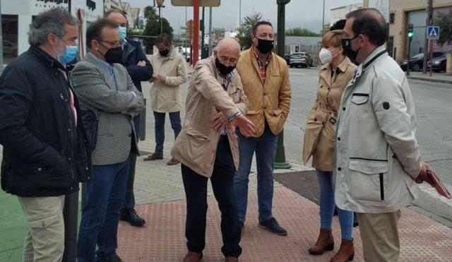 Visita al Polígono Industrial de Los Olivares.